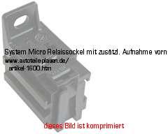 KFZ-Elektrik > Kabelschuhe & Steckverbindunge > Relaissockel