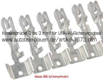 Kontaktbrücke 2 bis 3 mm² für UNI-VAL-Sicherungsdose in KFZ-Elektrik ...