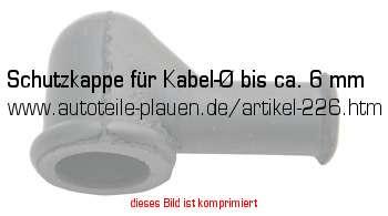 schutzkappe f r kabel bis ca 6 mm in kfz elektrik. Black Bedroom Furniture Sets. Home Design Ideas