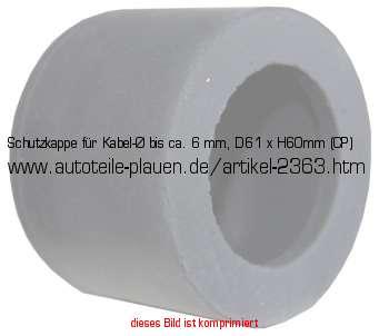 schutzkappe f r kabel bis ca 6 mm d61 x h60mm cp in. Black Bedroom Furniture Sets. Home Design Ideas