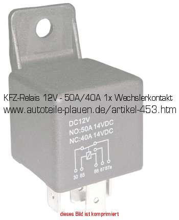 kfz relais 12v 50a 40a 1x wechslerkontakt in kfz. Black Bedroom Furniture Sets. Home Design Ideas