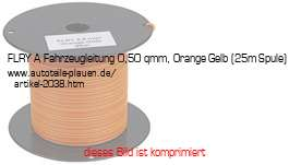 25m-Spule FLRY 0,5 mm2 Orange-Gelb