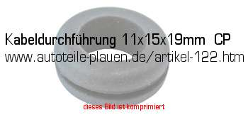 kabeldurchf hrung 11x15x19mm cp in kfz elektrik gummi. Black Bedroom Furniture Sets. Home Design Ideas