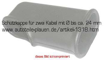 schutzkappe f r zwei kabel mit bis ca 24 mm in kfz. Black Bedroom Furniture Sets. Home Design Ideas