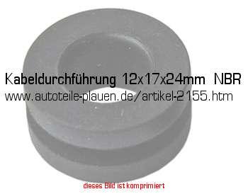 kabeldurchf hrung 12x17x24mm nbr in kfz elektrik gummi. Black Bedroom Furniture Sets. Home Design Ideas
