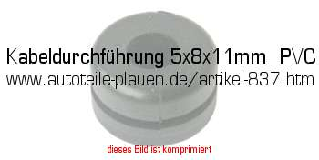 kabeldurchf hrung 5x8x11mm pvc in kfz elektrik gummi artikel. Black Bedroom Furniture Sets. Home Design Ideas