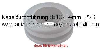 kabeldurchf hrung 8x10x14mm pvc in kfz elektrik gummi. Black Bedroom Furniture Sets. Home Design Ideas
