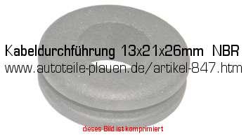 kabeldurchf hrung 13x21x26mm nbr in kfz elektrik gummi. Black Bedroom Furniture Sets. Home Design Ideas