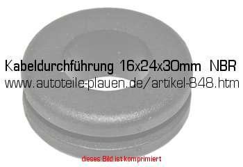 kabeldurchf hrung 16x24x30mm nbr in kfz elektrik gummi. Black Bedroom Furniture Sets. Home Design Ideas