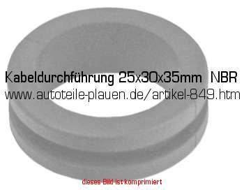 kabeldurchf hrung 25x30x35mm nbr in kfz elektrik gummi. Black Bedroom Furniture Sets. Home Design Ideas