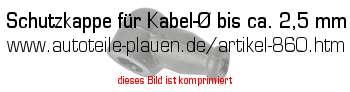 schutzkappe f r kabel bis ca 2 5 mm in kfz elektrik. Black Bedroom Furniture Sets. Home Design Ideas
