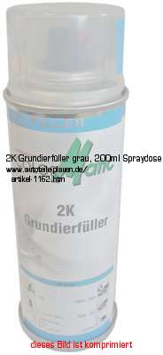 2k grundierf ller grau 200ml spraydose in karosserie. Black Bedroom Furniture Sets. Home Design Ideas