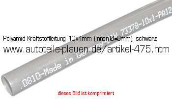 Benzinleitung Gummi 3,5 mm Innen 7,5 mm Außendurchmesser schwarz 1 m