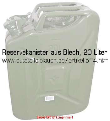 reservekanister aus blech 20 liter in zubeh r. Black Bedroom Furniture Sets. Home Design Ideas